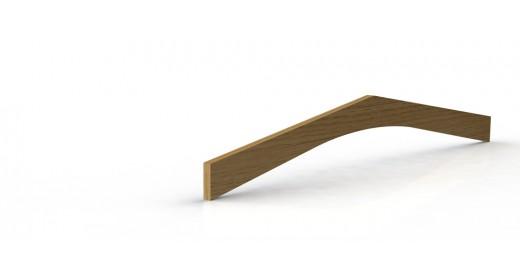 Curved boomerang beam