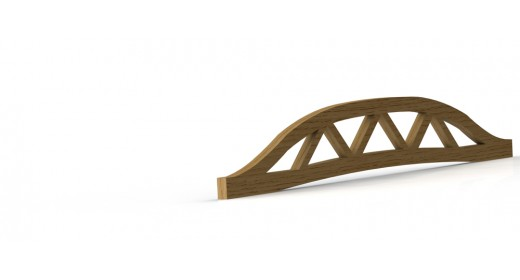 Double convex truss with belt
